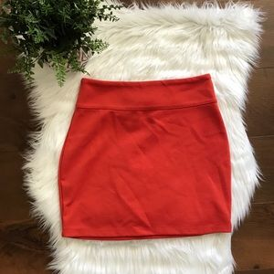 🔴 SILENCE & NOISE orange mini skirt size medium